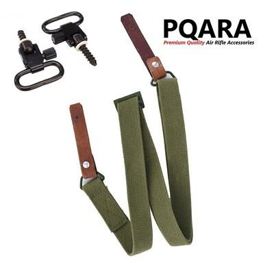Canvas Rifle Sling Set with Screws & Quick ReleaseSwivel Fittings