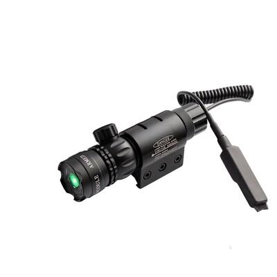 PQARA - Green 5mW Laser Sight Pointer Designator Hunting Kit