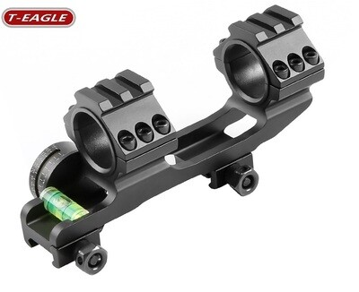 """T-Eagle 5002 One-Piece Scope Mount for 30mm & 1"""" Tube - Anti Cant Bubble & Inclinometer"""
