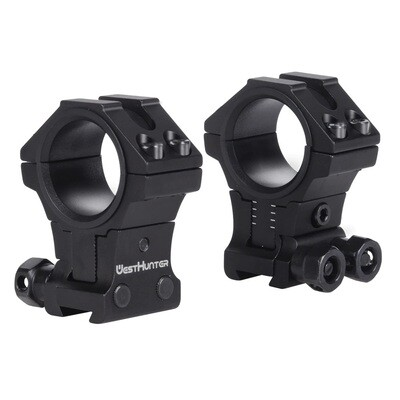 "West Hunter Infinity Adjustable Profile 11mm Dovetail Mounts (Black) 30mm & 1"" Tube"
