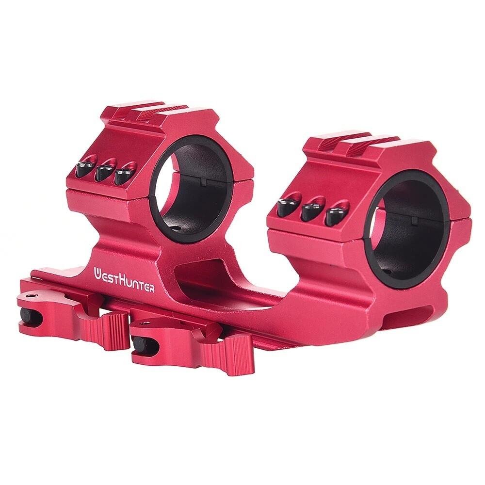 "West Hunter QD 1 Piece Weaver Mounts (Red) 30mm & 1"" Tube"