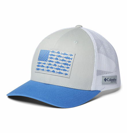 1837001040 PFG Mesh Snap Back  Fish Flag Ball Cap