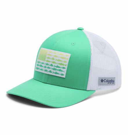 1837001341 PFG Mesh Snap Back  Fish Flag Ball Cap