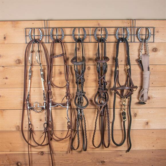 40960 Easy Up Portable Horseshoe 6 Hook Bridle Rack