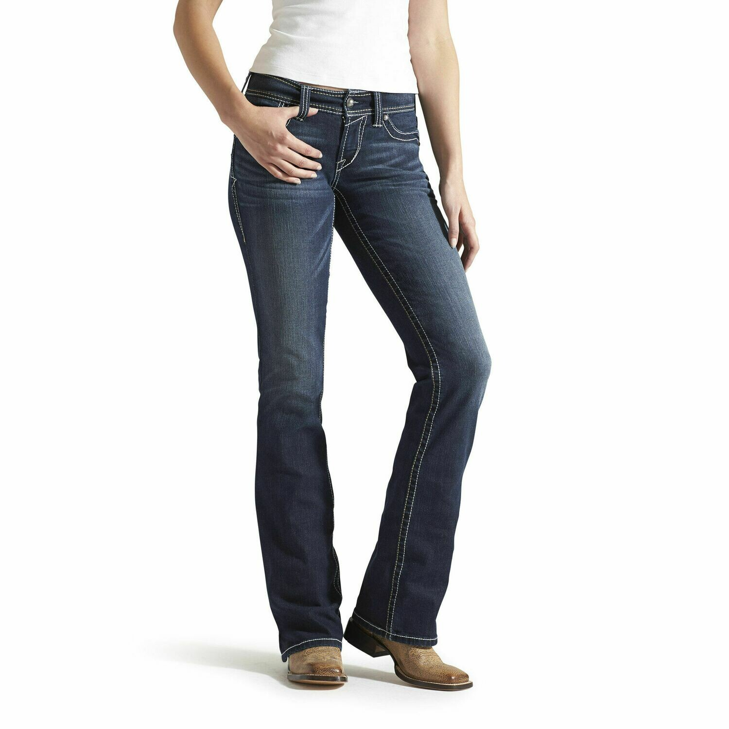 10014022 WMS REAL RIDING JEAN WHIPSTITCH OCEAN