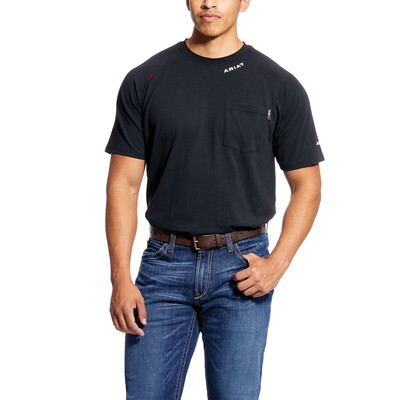10025433 MNS FR BASELAYER SS T SHIRT BLACK