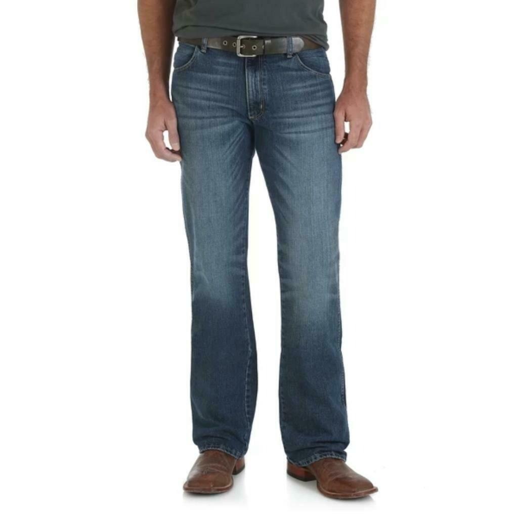 77MWZSD Mens Wrangler Retro Slim Boot Jeans