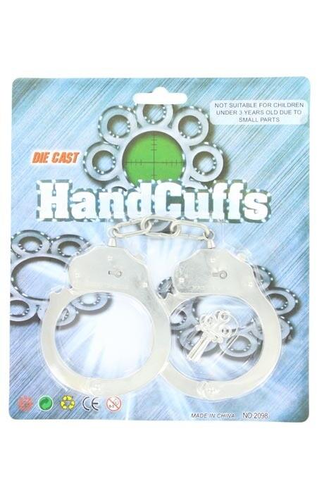50796 Silver Handcuffs w/Keys