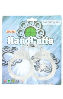 50796 Silver Handcuffs w/Key