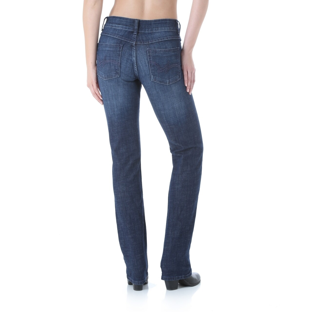 09MWTDS Wrangler Straight Leg Jean Mid Rise
