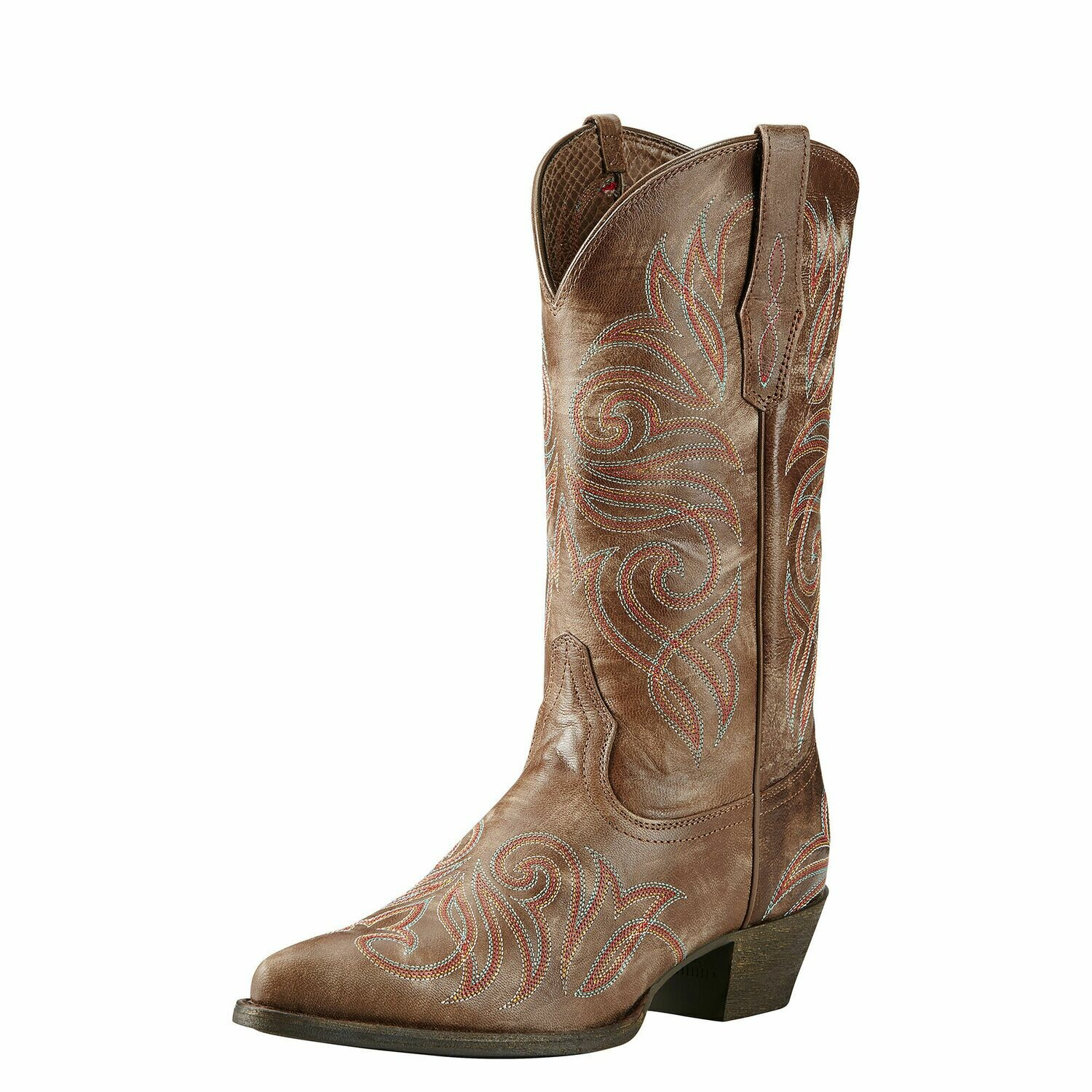 10018621 WMS ROUND UP J TOE BURNISHED BROWN