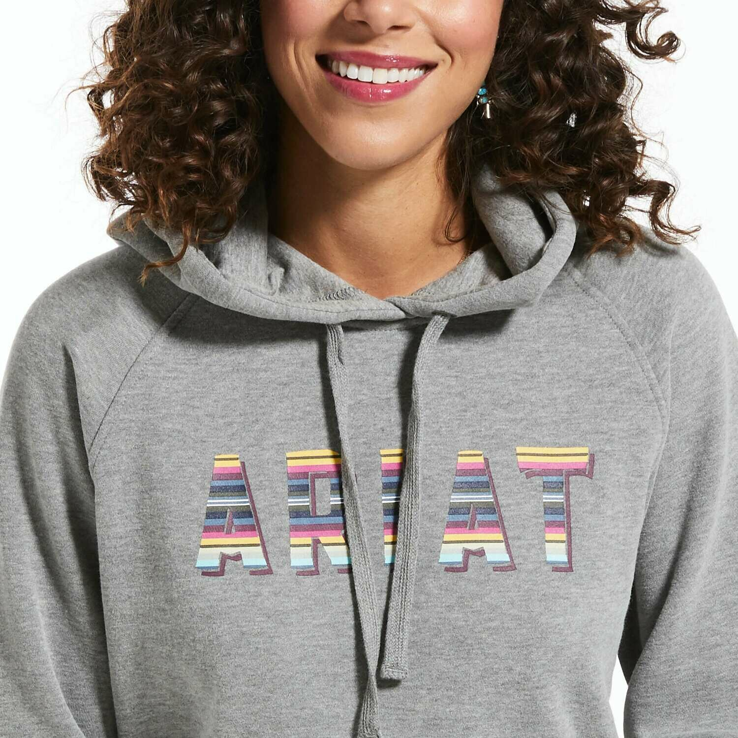 10032854 WMS REAL SERAPE LOGO HOOD HEATHER GREY
