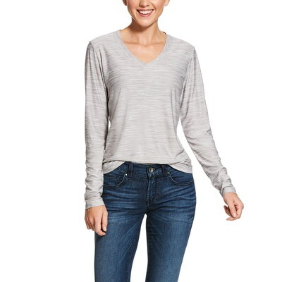 10028299 WMS LAGUNA LS TOP HEATHER GREY