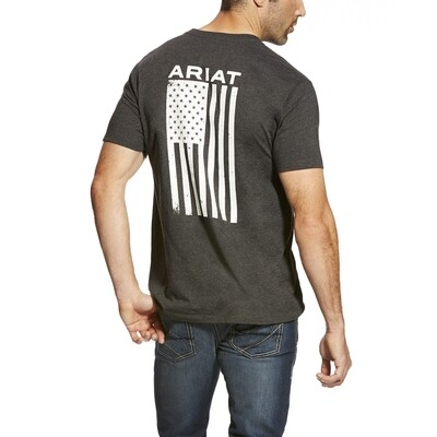 10025209 MNS FREEDOM SS T SHRT CHARCOAL HEATHER