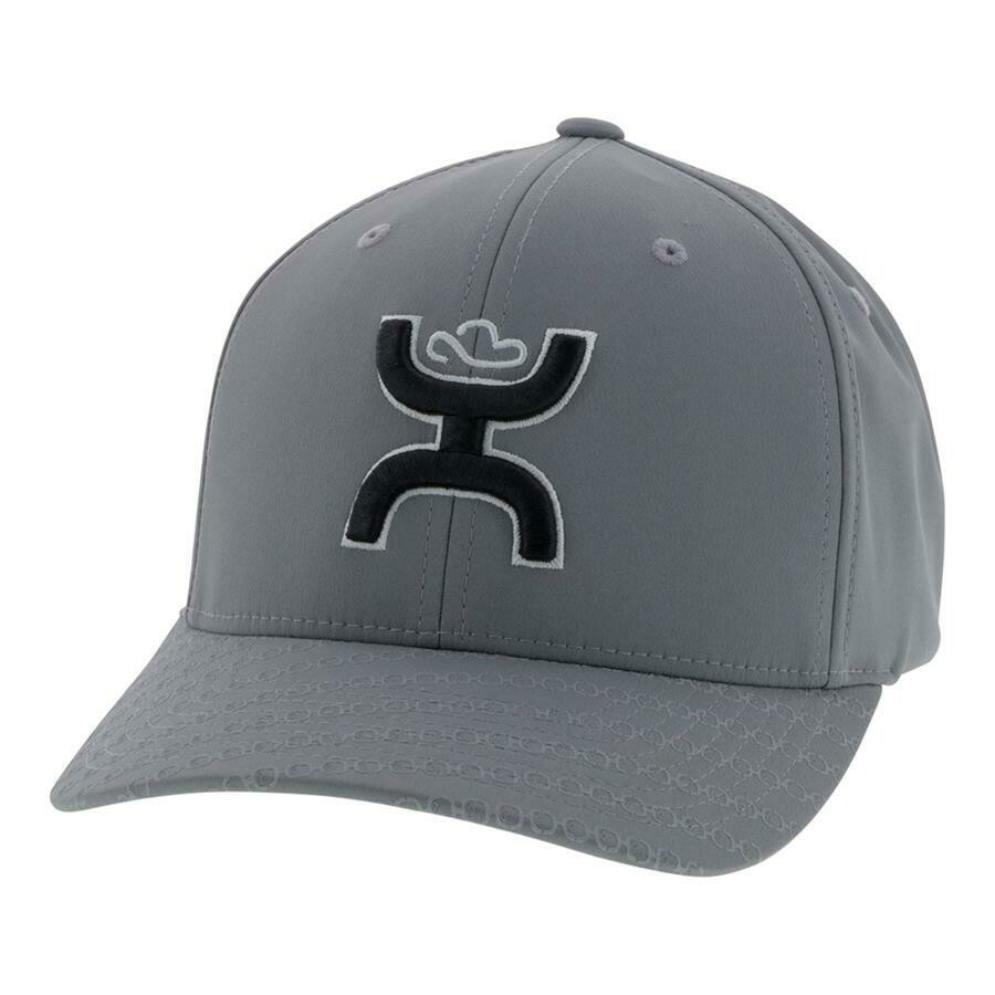 2009GY Y Solo III Hooey Grey 6 Panel Flexfit with Black and White Logo Youth