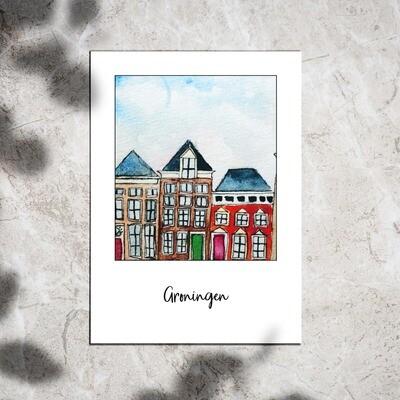 Postcard - Groningen houses