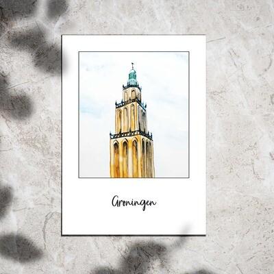 Postcard - Groningen Martinitoren
