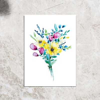 Postcard - Colorful flowers