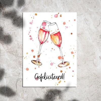 Postcard - champagne
