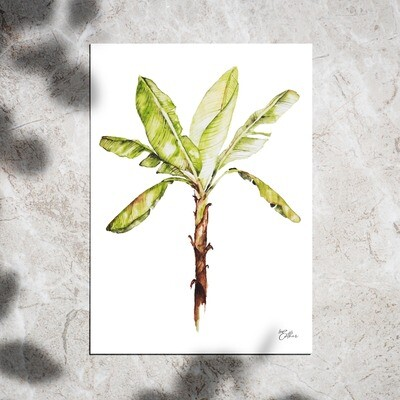 Art Print - Watercolor Bananatree