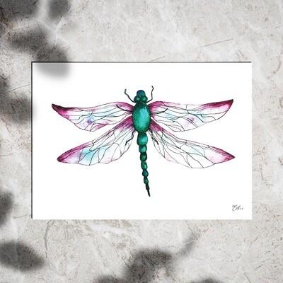 Art Print - Watercolor Dragonfly