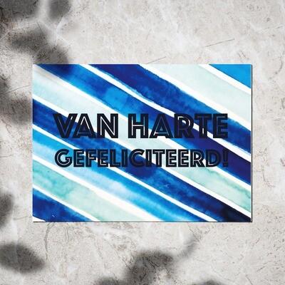Postcard - 'Van Harte Gefeliciteerd'