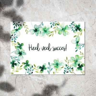 Postcard - 'Heel veel succes!'