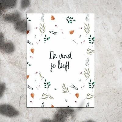 Postcard - 'Ik Vind Je Lief'