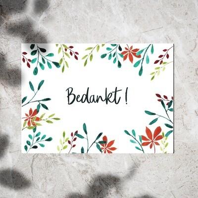 Postcard - Bedankt