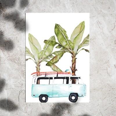 Postcard set of 2 - Van