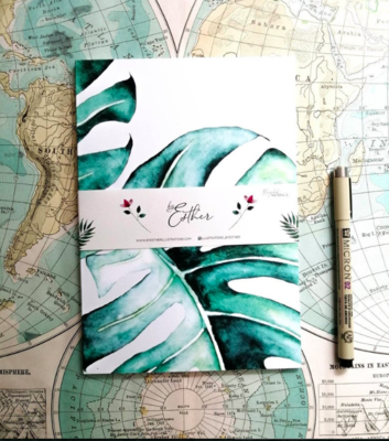 Recycled Notebook - Monstera
