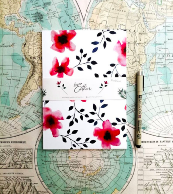 Recycled Notebook - Floral