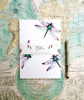Recycled Notebook - Dragonfly