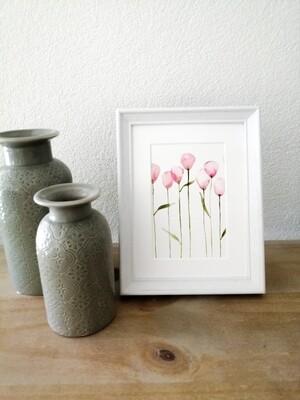 Mini painting wildflower poppies (#9)