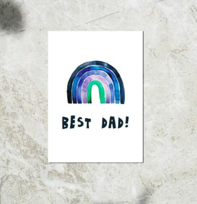Postcard - 'Best Dad!'