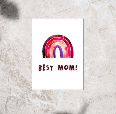 Postcard - 'Best Mom!'