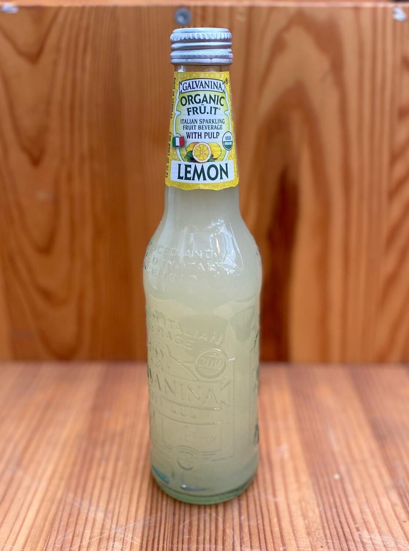 Galvanina Lemon Organic Sparkling Italian Fruit Soda, 12 fl oz.