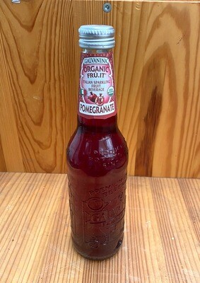 Galvanina Pomegranate Organic Sparkling Italian Fruit Soda, 12 fl oz.