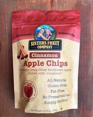 Sisters Fruit Co. Cinnamon Apple Chips, 2.25 oz. bag