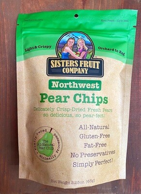Sisters Fruit Co. Northwest Sliced Pear Chips, 2.25 oz. bag