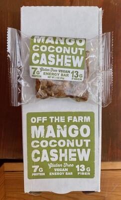 GOOD FOR YOU! Off the Farm Mango Coconut Cashew Protein Bar, 2.5 oz.