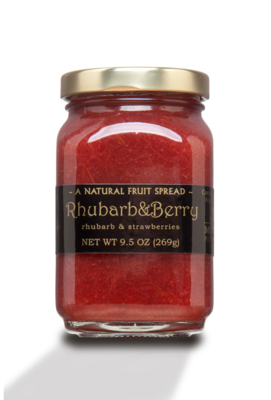 Staff Pick! Mountain Fruit Co. Rhubarb and Berry Fruit Spread 9.5 oz.