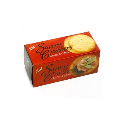Elki Savory Garlic and Herb Crackers, 2.2 oz. box