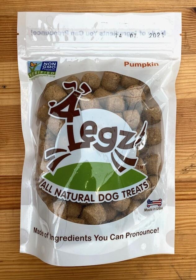 SALE! 4LEGZ Dog Treats - Organic Pumpkin, 7 oz. bag $4.39 ($3.99 plus 10% tax)