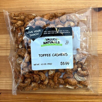 Toffee Cashews, 6.5 oz.