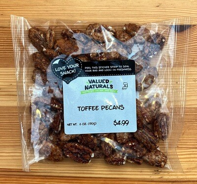Toffee Pecans, 6 oz.