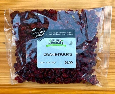 Dried Cranberries, 9 oz.