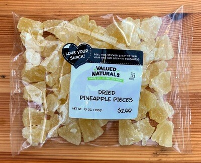 Dried Pineapple Pieces, 10 oz.