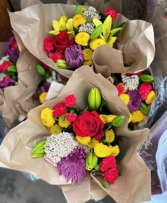 Market Mixed Bouquets $12.99 plus tax (10%)