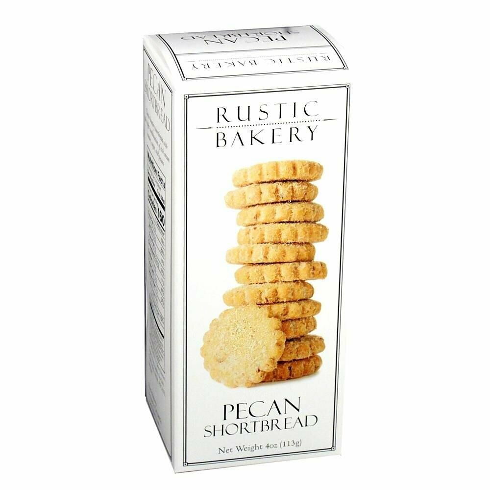 Rustic Bakery Pecan Shortbread Cookies,  4 oz. box